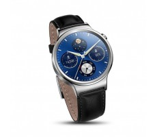 Huawei Watch (Black Leather Strap)