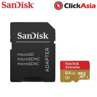 Sandisk 64GB Extreme MicroSD Memory Card - 90MB (SDSQXVF-064G-GN6AA)