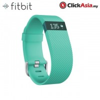 Fitbit Charge HR - Heart Rate + Activity WristBand - Teal (Large - FB405TEL)