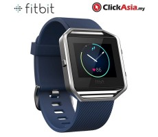 Fitbit Blaze Fitness Watch - Blue Silver (Large - FB502SBUL)