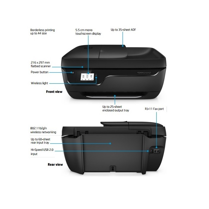 Hp Deskjet Ink Advantage 3835 All In One Printer F5r96b