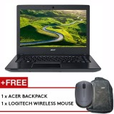 Acer Aspire E14 (E5-475G-55BD) - 14-inch/i5-7200U/4GB /1TB/NV 940MX/W10 (Gray) + FREE Backpack