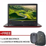 Acer Aspire E15 (E5-575G-54G7) - 15.6-inch/i5-7200U/4GB /1TB/NV 940MX/W10 (Red) + FREE Backpack
