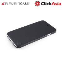 """Element Soft-Tec Wallet Case for iPhone 6  (Black """"Tech Grip"""" / Red Suede)"""