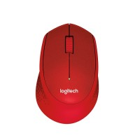 Logitech M331 Silent Plus Wireless Mouse - Red (910-004916)