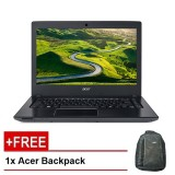 "Acer Aspire E14 (E5-475-354E) - 14""/i3-6006U/1TB/4GB/W10 - (Gray) + FREE ACER BACKPACK"