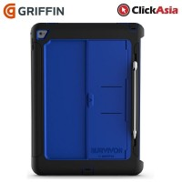 Griffin Survivor Slim Case for iPad Pro - Black / Blue (GB40364)
