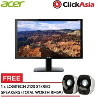 "Acer KG240A Gaming LED Monitor (DVI+HDMI+DP) - 24"" FULL HD+FREE Logitech Z210 Speaker"