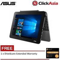 "Asus Transformer Book T101H-AGR004T 10.1"" 2-in-1 Laptop Gray (Z8350, 2GB, 64GB, Intel, W10H) + Free Shieldcare"