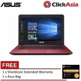 "Asus X-Series X541S-AXX346T 15.6"" Laptop Red (N3060, 4GB, 500GB, Intel, W10) +Free Shieldcare"
