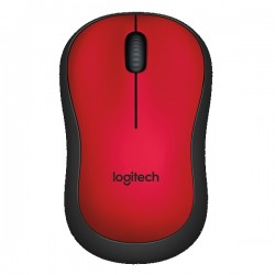 Logitech M221 Silent Wireless Mouse - Red (910-004884)