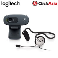 Logitech  C270 HD Webcam + Mono Headset (960-000627)