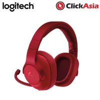Logitech G433 7.1 Wired Surround Gaming Headset - Red (981-000654)