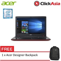 """Acer Aspire E15 (E5-576G-54KG) Laptop - 15.6"""" / i5-8250 / 4GB / 1TB / NV MX150 2GB / W10 (Rococo Red)"""