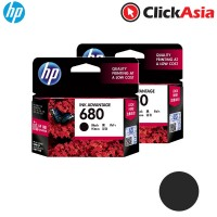 HP 680 Black Ink (F6V27AA) x 2