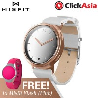 Misfit Phase - Rose Gold and White Leather + (MisFit Activity Tracker-pink)