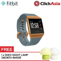 Fitbit Ionic Fitness Smartwatch (Slate Blue/Burnt Orange) + FREE Emoi Mushroom Lamp