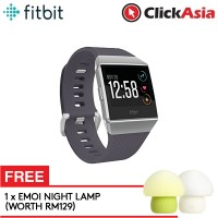 Fitbit Ionic Fitness Smartwatch (Blue Gray/White) + FREE Emoi Mushroom Lamp
