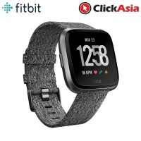 Fitbit Versa Fitness Smartwatch (Woven Charcoal Band/Graphite Case)